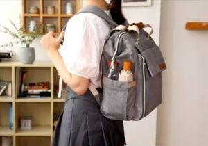 Aisparky Waterproof Baby Diaper Backpack handle